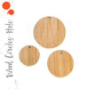 "Wood Circles With Hole 3/16"" Thick (Package.Price)"