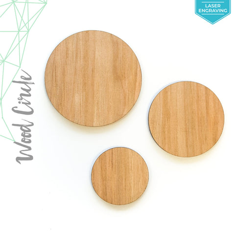 "Laser Engraving Wood Circles 3/16"" Thick (Package.Price)"
