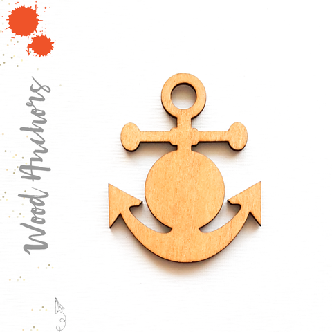 Wood Keychain Anchors (Package.Price)