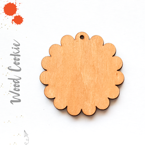Wood Keychain Cookie (Package.Price)