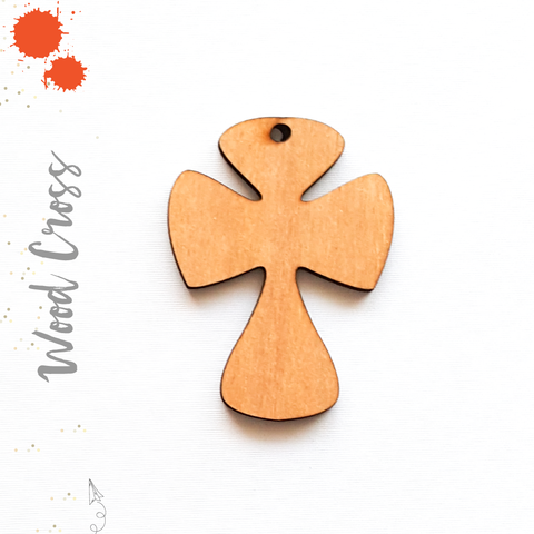 Wood Keychain Cross (Package.Price)
