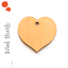 Wood Keychain Hearts Center Hole (Package.Price)