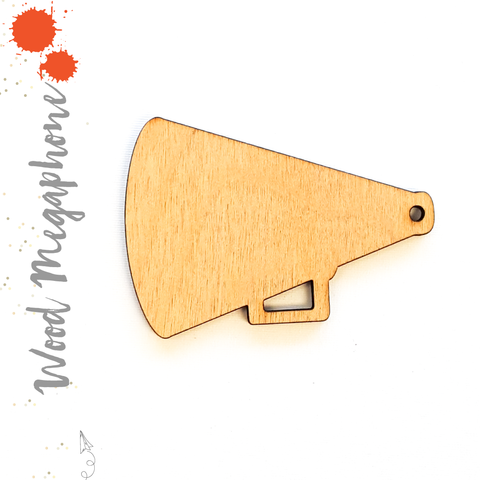 Wood Keychain Megaphone (Package.Price)