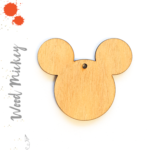 Wood Keychain Mickey Mouse (Package.Price)