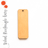 Wood Keychains Rectangle Bars - Corners (Package.Price)