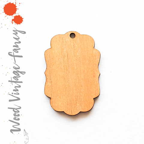 Wood Keychain Vintage Fancy (Package.Price)