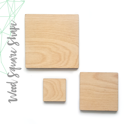 "Wood Square 1/8"" Thick (Package.Price)"