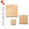 "Wood Square 3/16"" Thick With Hole (Package.Price)"