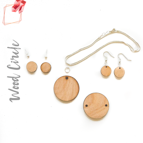 Wood Jewelry Circles (Package.Price)