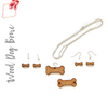 Wood Jewelry Dog Bone (Package.Price)