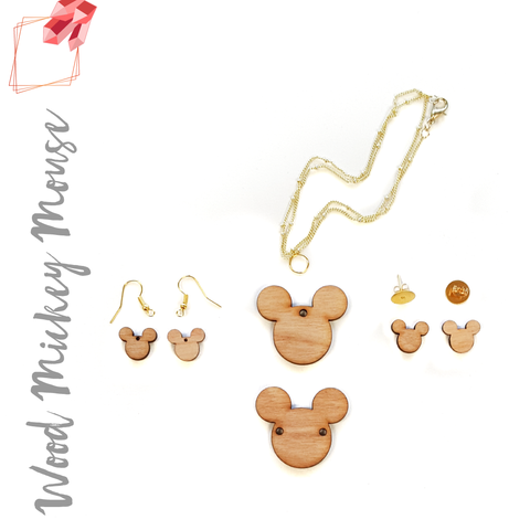 Wood Jewelry Mickey Mouse (Package.Price)