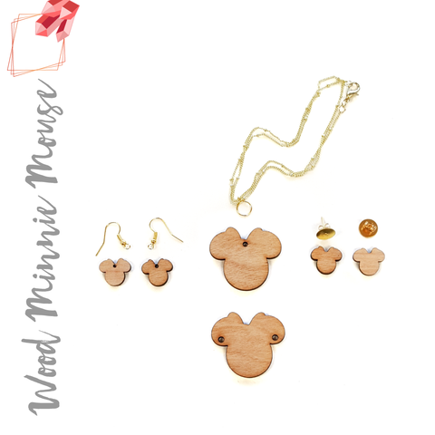 Wood Jewelry Minnie Mouse (Package.Price)