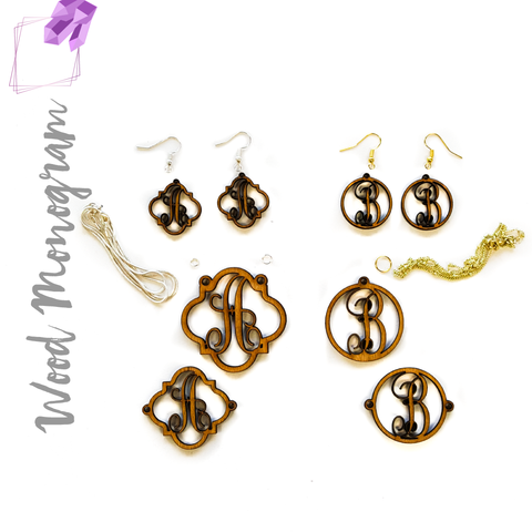 Wood Jewelry Monograms (Package.Price)