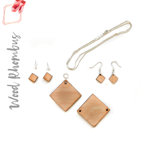 Wood Jewelry Rhombus (Package.Price)