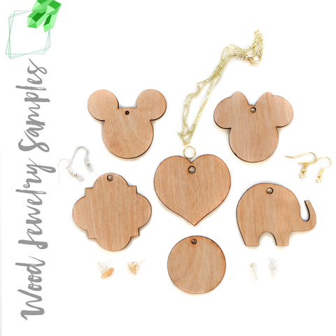 Wood Jewelry Samples (Package 24 Units)