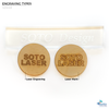 Laser Engraving Wood Christmas Ornaments Bubble Soto