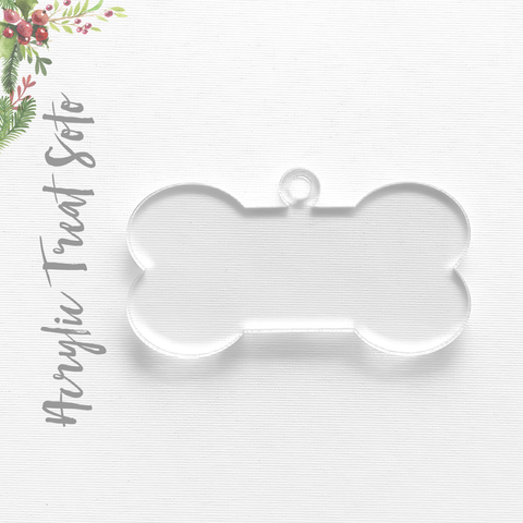 Acrylic Christmas Ornaments Dog Bone Soto