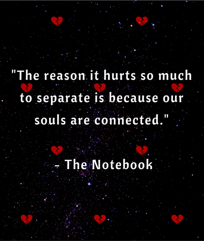the notebook souls are connected quote
