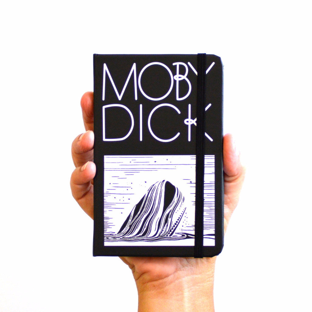 moby dick hardcover notebook in hand from manuscript notebooks
