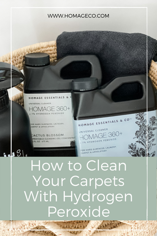 How to Clean Your Carpets with Hydrogen Peroxide www.homageco.com