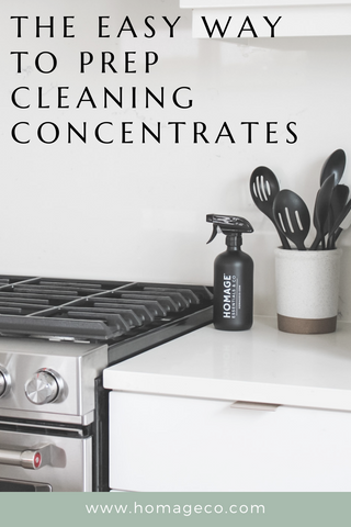The Easy Way to Prep Cleaning Concentrates www.homageco.com