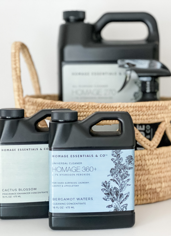 Get ready for summer with Homage Essentials Cleaning Concentrates www.homageco.com