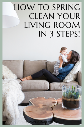 How to Spring Clean Your Living Room in 3 Steps! www.homageco.com