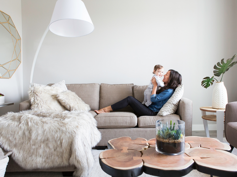 It's easy to spring clean your living room with these tips. www.homageco.com