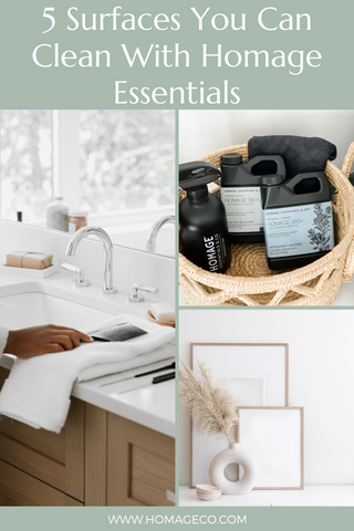 5 Surfaces You Can Clean With Homage Essentials www.homageco.com