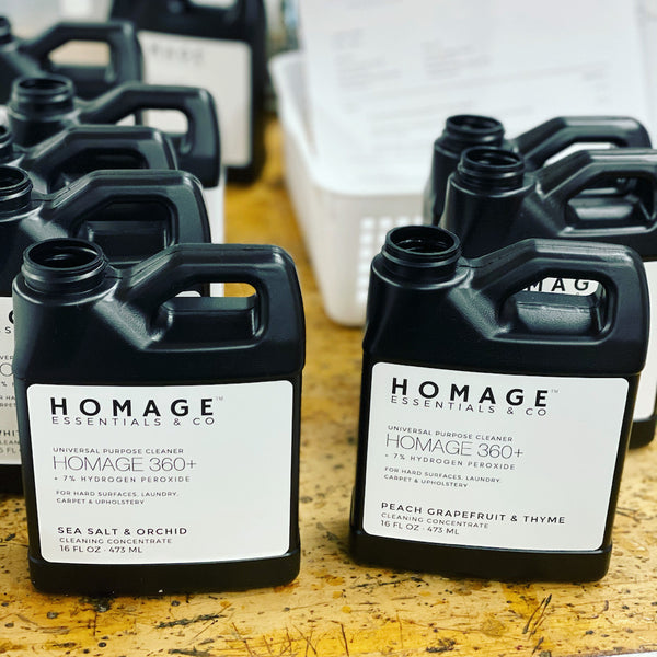 At Homage Co we believe in the power of hydrogen peroxide to clean and disinfect your homes. www.homageco.com