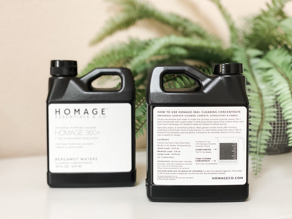 See what the difference is when you clean with food grade hydrogen peroxide www.homageco.com
