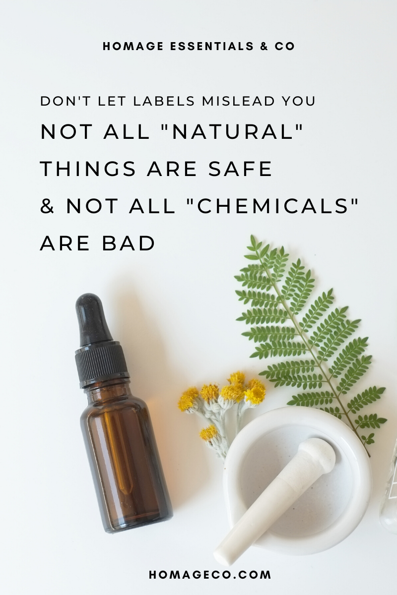 "Not All ""Natural"" Things Are Safe & Not All ""Chemicals"" Are Bad - Non-toxic Cleaners"