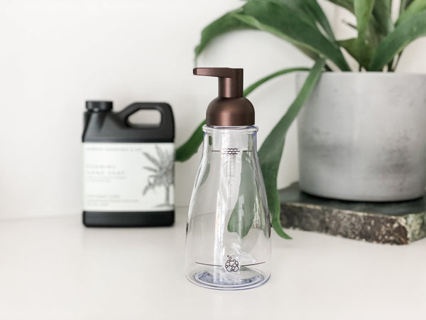 12 oz Bronze Foaming Soap Pump Dispenser