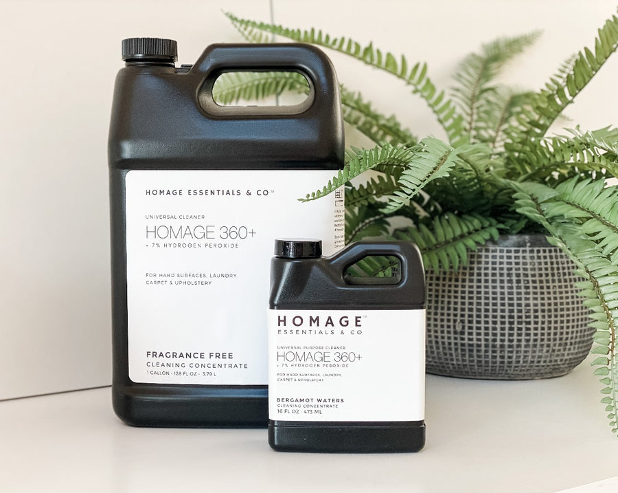 Homage 360+ 7% Hydrogen Peroxide Universal Cleaning Concentrate - 16 oz - Homage Essentials & Co