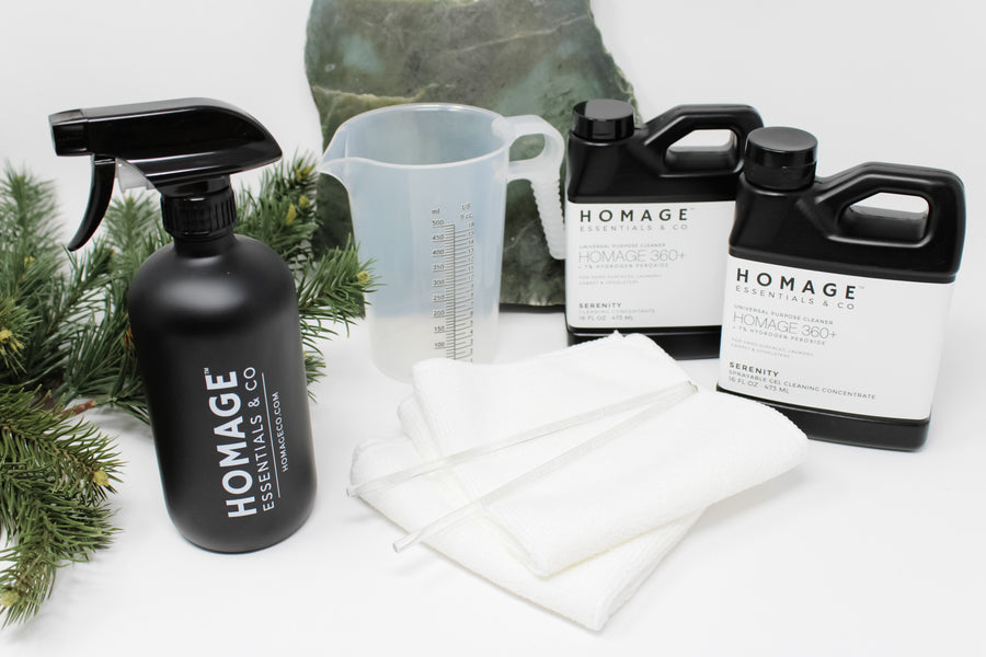 Homage 360+ Cleaning Essentials Gift Box - Homage Essentials & Co