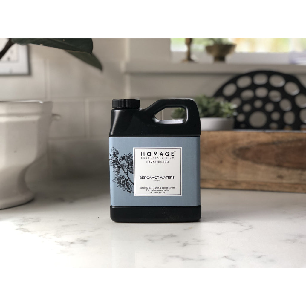 Homage 270+ 7% Hydrogen Peroxide All-Purpose Cleaning Concentrate 16 oz - Homage Essentials & Co