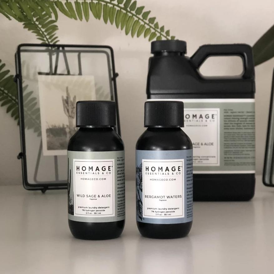 Limited Released! Hydrogen Peroxide Laundry Detergent - Sample Set - Homage Essentials & Co