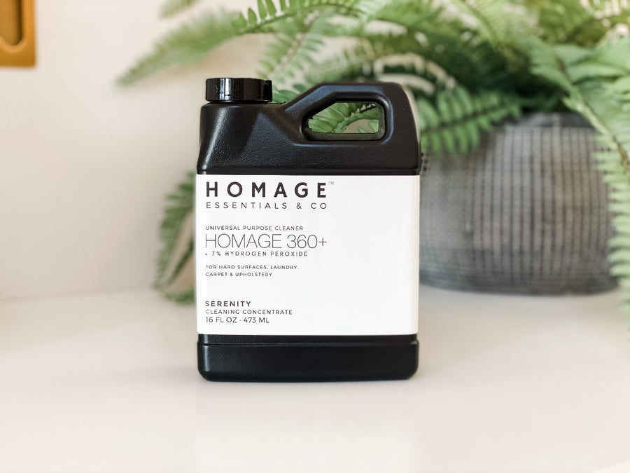 Homage 360+ 7% Hydrogen Peroxide Universal Cleaning Concentrate 16oz - 3 Pack