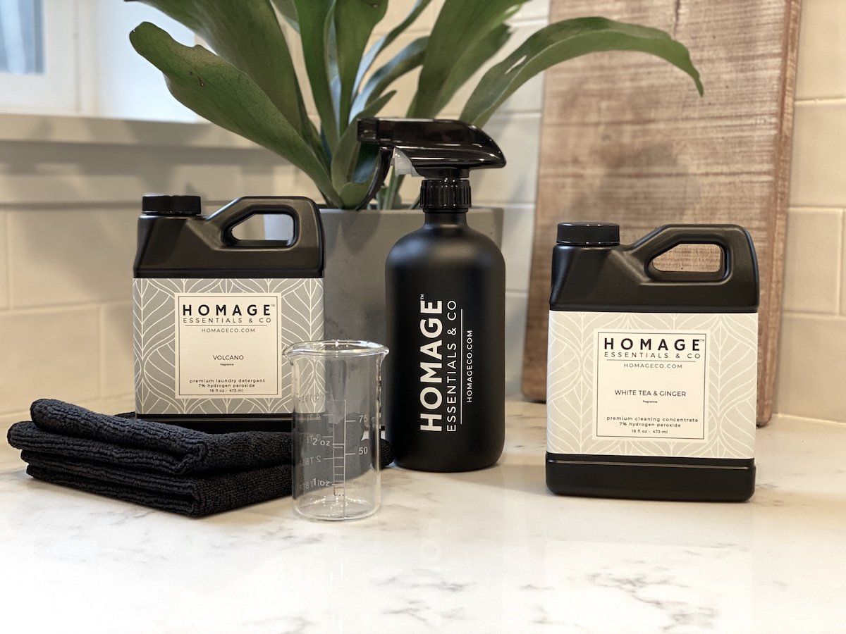 Homage Essentials Cleaning & Laundry Bundle