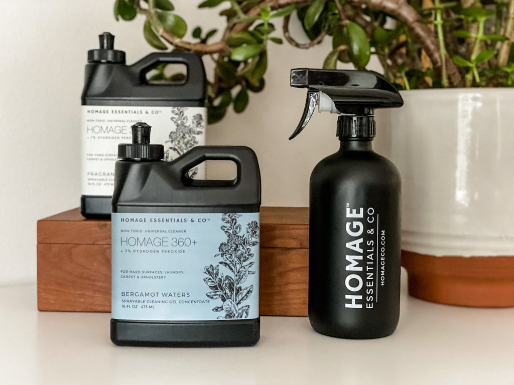 Homage 360+ Sprayable Cleaning Gel Concentrate Bundle - Homage Essentials & Co