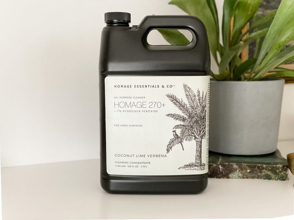 Homage 270+ 7% Hydrogen Peroxide All-Purpose Cleaning Concentrate (various scents) 1 Gallon (128 oz) - - Homage Essentials & Co