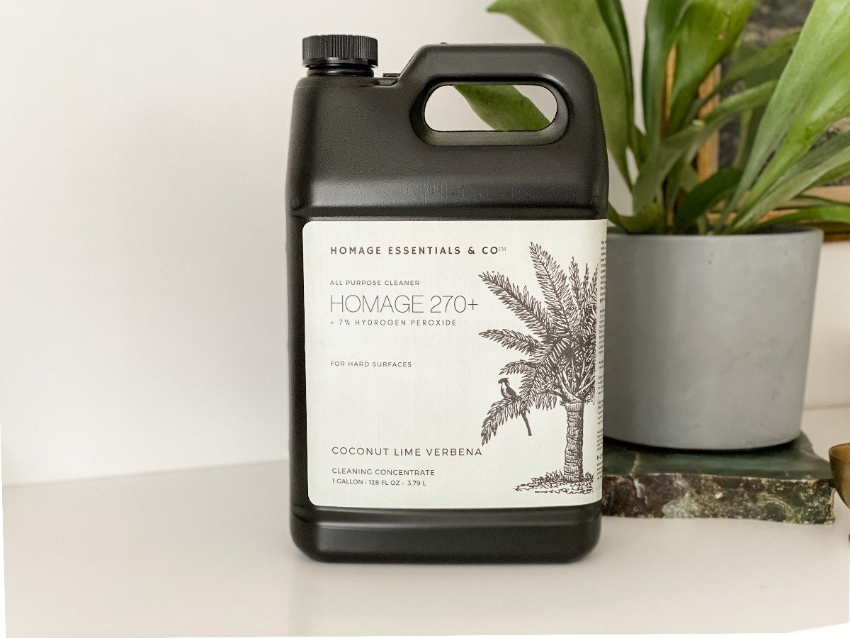 Homage 270+ 7% Hydrogen Peroxide All-Purpose Cleaning Concentrate (various scents) 1 Gallon (128 oz) -