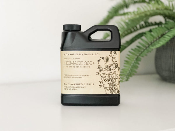 Homage 360+ 7% Hydrogen Peroxide Universal Cleaning Concentrate - 16 oz