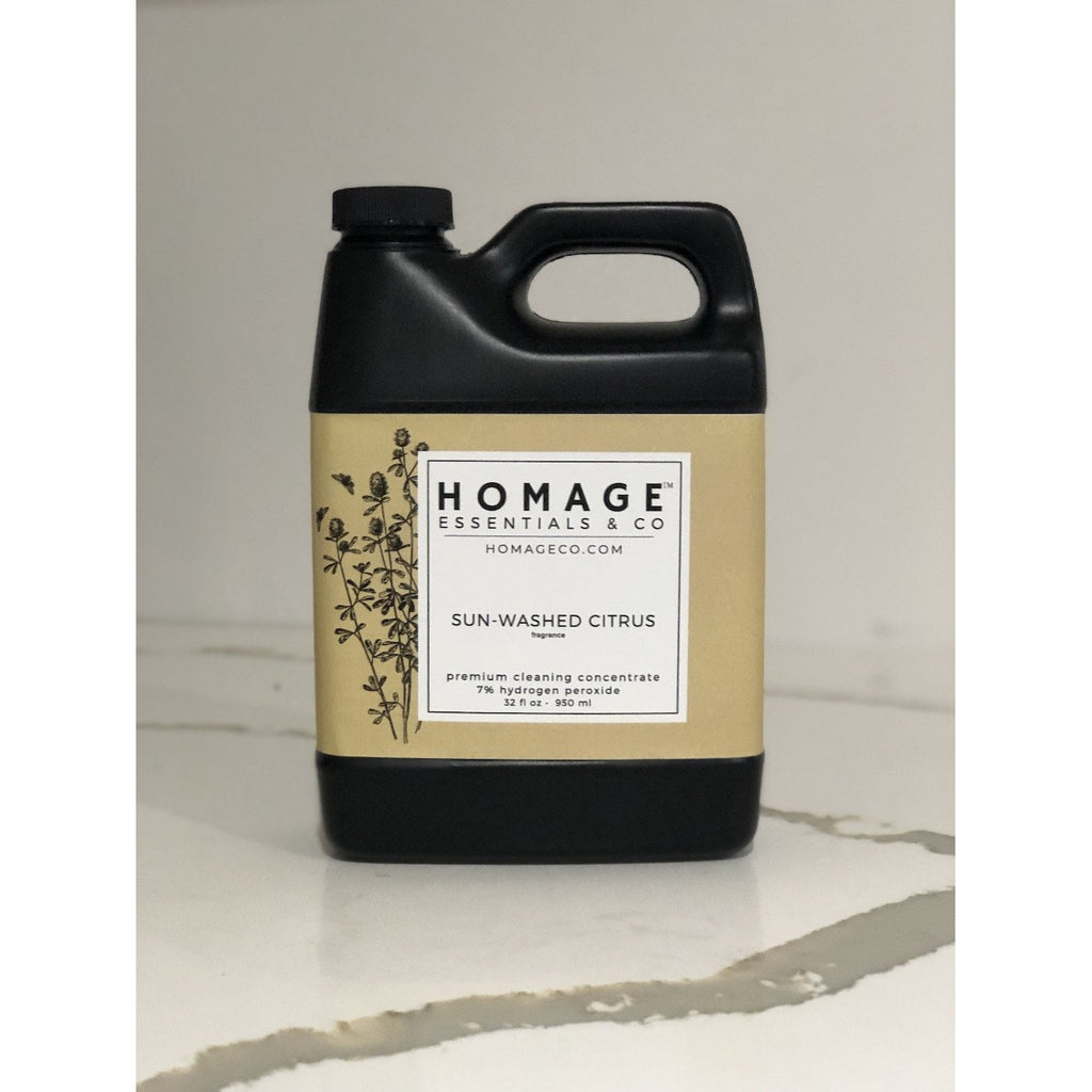 7% Hydrogen Peroxide Cleaning Concentrate (Various Fragrance) 32 oz - Homage Essentials & Co
