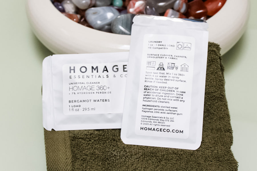Homage 360+ Peroxide Cleaning Concentrate Samples (Set of 3) - Homage Essentials & Co