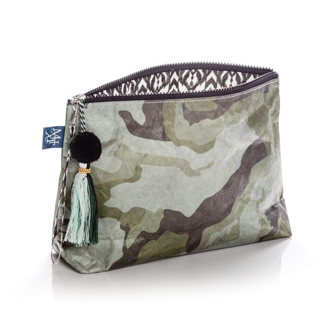 Olive U-tility Reversible Pouch