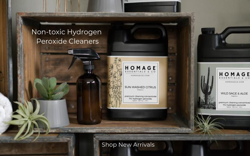 Hydrogen peroxide laundry detergent