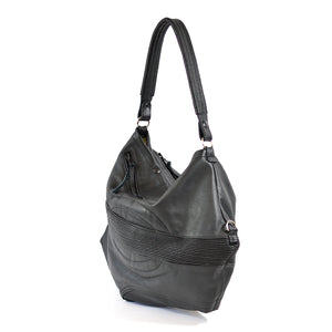 leather biker hobo bag - delacyonline - 4