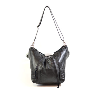 leather biker hobo bag - delacyonline - 2