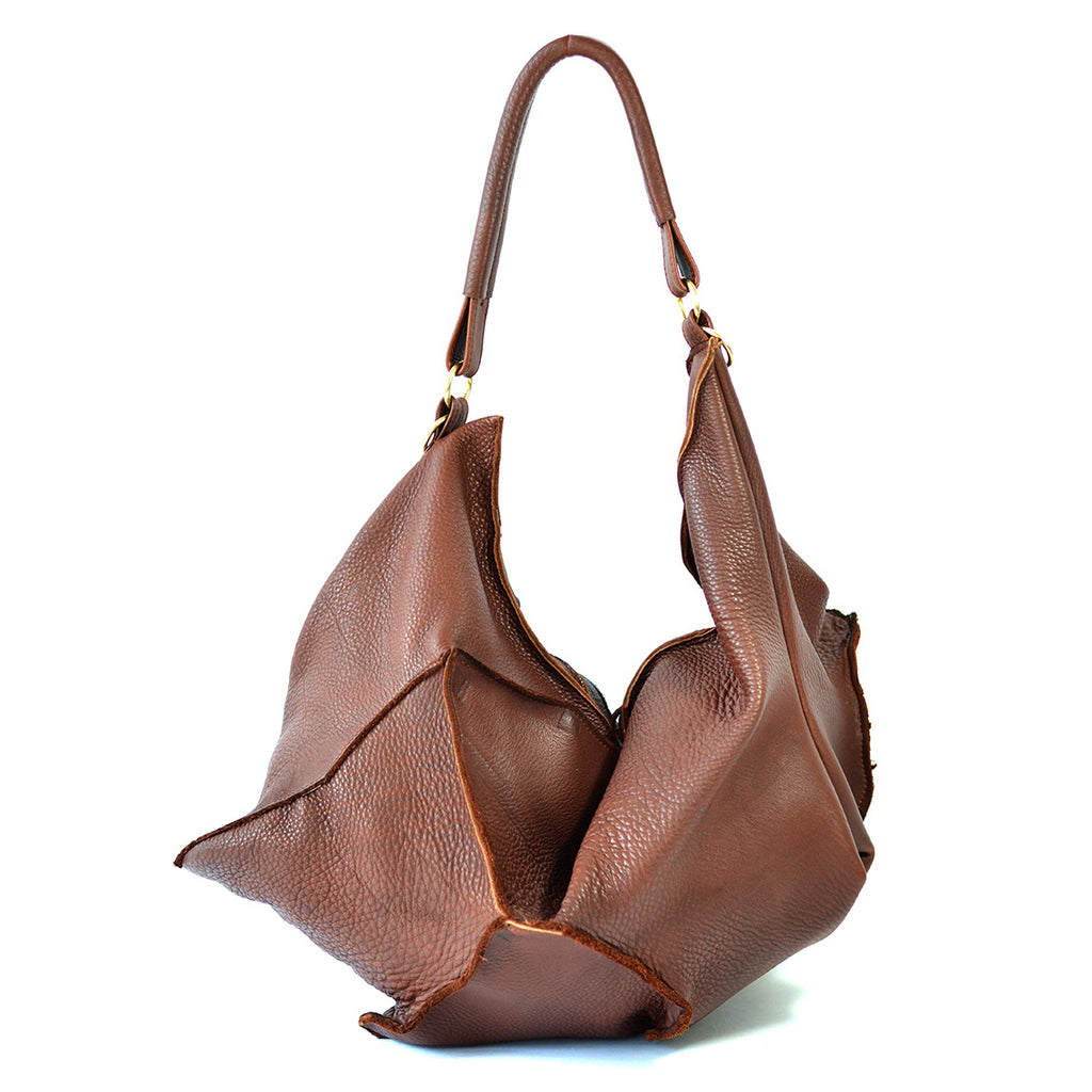 brown leather hobo bag - delacyonline  -1